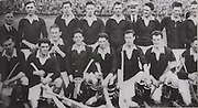 Cork-All-Ireland Hurling Champions 1929. Back Row: E Flemming (Official), E Coughlan, J Kenneally, P O'Grady, M Ahernye, D Buckley ( Official), M O'Connell, P Collins, J Burke. Front Row: P Aherne, P Delea, J Hurley, D Barry Murphy (capt), M Madden, E O'Connell, J O'Regan, T Barry.