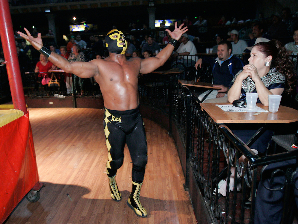 """""""Viva Puerto Riiiiiico,"""" shouts Hijo de Pierroth as he makes his entrance into Pharr's Tejano Saloon.  The subject of constant insults and obscene gestures, he seems to enjoy being disliked."""
