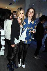 Left to right, JAZZY DE LISSER and COCO SUMNER at a party hosted by Kate Sumner at Zadig & Voltaire to celebrate the brand's arrival in London at 182 Westbourne Grove, London W11 on 14th October 2008.