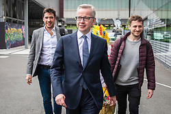 © Licensed to London News Pictures. 16/06/2019. London, UK. Secretary of State for Environment, Food and Rural Affairs Michael Gove arrives for the first televised debate between Conservative Party leadership contenders. Frontrunner Boris Johnson has said that he will not take part in the Channel 4 debate. Photo credit: Rob Pinney/LNP