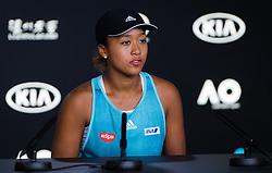 January 12, 2019 - Melbourne, AUSTRALIA - Jelena Ostapenko of Latvia talks to the media during Media Day at the 2019 Australian Open Grand Slam tennis tournament (Credit Image: © AFP7 via ZUMA Wire)