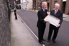 AUG 4 2000 Greggs Directors with Queen Mother's Birthday Cake