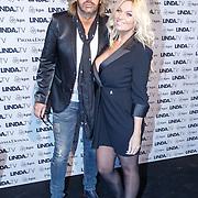 NLD/Amsterdam/20151026 - Lancering Linda TV, Bobbi Eden en partner Mark Laurenz