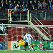 Trabzonspor's goalkeeper Tolga ZENGIN during their UEFA Champions League group stage matchday 4 soccer match Trabzonspor between CSKA Moskva at the Avni Aker Stadium at Trabzon Turkey on Wednesday, 02 November 2011. Photo by TURKPIX