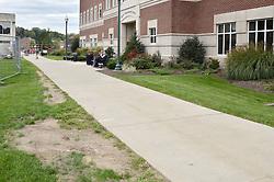 View North, Sidewalk & Vance Center. CCSU New Academic Building Construction Progress. Pre-Construction, Shoot 1