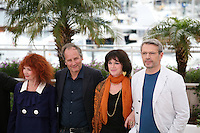 Sabine Azema, Hippolyte Girardot, Anne Dupery, Lambert Wilson at the Vous N'Avez Encore Rien Vu photocall at the 65th Cannes Film Festival France. Monday 21st May 2012 in Cannes Film Festival, France.