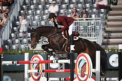 Al Emadi Khalid Mohammed, (QAT), Tamira IV <br /> First Round<br /> Furusiyya FEI Nations Cup Jumping Final - Barcelona 2015<br /> © Dirk Caremans<br /> 24/09/15