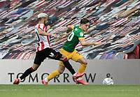 Preston North End's Josh Harrop (right) competing with Brentford's Said Benrahma <br /> <br /> Photographer Andrew Kearns/CameraSport<br /> <br /> The EFL Sky Bet Championship - Brentford v Preston North End - Wednesday 15th July 2020 - Griffin Park - Brentford <br /> <br /> World Copyright © 2020 CameraSport. All rights reserved. 43 Linden Ave. Countesthorpe. Leicester. England. LE8 5PG - Tel: +44 (0) 116 277 4147 - admin@camerasport.com - www.camerasport.com
