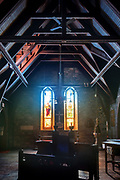 Windows 7 and 8 on plan.<br /> <br /> Saint Saviour's Episcopal Church, Bar Harbor, Maine.