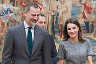 Queen Letizia of Spain attends the Delivery of the National Research Awards 2018 at Palacio de El Pardo on February 21, 2019 in Madrid, Spain