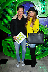 "Mario Falcone and Lucy Mecklenburgh attends the Shrek ""Children in need"" Performance, Theatre Royal, Drury Lane, Covent Garden, London, UK, November 14, 2012. Photo by Chris Joseph / i-Images."