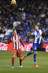 March 2, 2017 - La Coruna, Spain - Fernando Torres and P.Mosquera. La Liga Santander Matchday 25. Riazor Stadium, La Coruna, Spain. March 02, 2017. (Credit Image: © Monica Arcay Carro/VW Pics via ZUMA Wire/ZUMAPRESS.com)