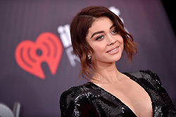 Sarah Hyland attends the 2018 iHeartRadio Music Awards at the Forum on March 11, 2018 in Inglewood, California. Photo by Lionel Hahn/AbacaPress.com