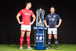 Hurlingham Club, London, January 27th 2016. Wales Captain Sam Warburton and Scotland Captain Grieg Laidlaw at the launch of the RBS Six Nations Rugby Tornament. ///FOR LICENCING CONTACT: paul@pauldaveycreative.co.uk TEL:+44 (0) 7966 016 296 or +44 (0) 20 8969 6875. ©2015 Paul R Davey. All rights reserved.