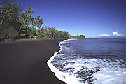 Matavai black sand beach, Tahiti, French Polynesia<br />