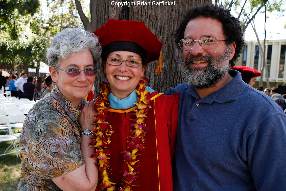 Kate, Dad and Mom at Kate's Doctoral hooding ceremony at The University of Southern California on Wednesday, May 12th, 2011.