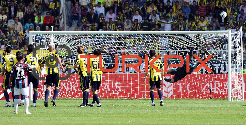 Fenerbahce's goalkeeper Volkan DEMIREL (R) during their Turkey Cup final match Trabzonspor between Fenerbahce at the GAP Arena Stadium at Urfa Turkey on wednesday, 05 May 2010. Photo by TURKPIX