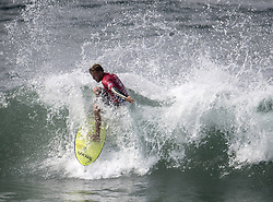 August 6, 2017 - Huntington Beach, CA, USA - Pat Gudauskas competes in quarterfinals match against Tomas Hermes during the US Open of Surfing at Huntington Beach Pier in Huntington Beach on Sunday, August 6, 2017. (Credit Image: © Kyusung Gong/The Orange County Register via ZUMA Wire)