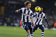 Billy Jones of West Brom in action. Barclays Premier league, West Bromwich Albion v Hull city at the Hawthorns in West Bromwich, England on Saturday 21st Dec 2013. pic by Andrew Orchard, Andrew Orchard sports photography.