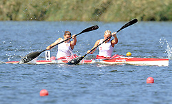MARTA WALCZYKIEWICZ & EWELINA WOJNAROWSKA (BOTH POLAND) COMPETE IN WOMEN'S K2 200 METERS FINAL A RACE DURING 2010 ICF KAYAK SPRINT WORLD CHAMPIONSHIPS ON MALTA LAKE IN POZNAN, POLAND...POLAND , POZNAN , AUGUST 22, 2010..( PHOTO BY ADAM NURKIEWICZ / MEDIASPORT ).