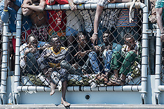 Italy: Corigliano Calabro, immigrant landing - 15 July 2017