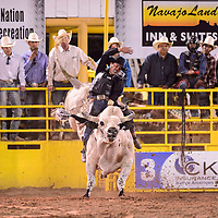 Ramon Curley of St. Michaels, Az. bull riding at the annual 4th of July celebration and PRCA Rodeo in Window Rock, Saturday July 7.