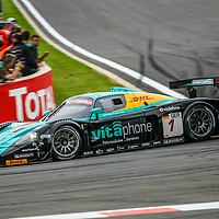 #1, Maserati MC12 GT1 #009/15445, Vitaphone Racing Team, driven by: Andrea Bertolini (I)/Stéphane Sarrazin (F)/Michael Bartels (D)/Eric van de Poele (B) at the Spa 24H, 2008