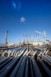 Pic of one one of the jetties used for gas transfer. Grangemouth refinery. The Sun had access to the plant for a 'year on' tale (last year the plant closed following strike action - this is an update piece).