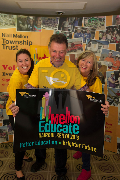 Sean Dixon from Strokestown Co Roscommon is pictured with Fidelma Timlin (left) and Veronica Lydon (right) from Galway