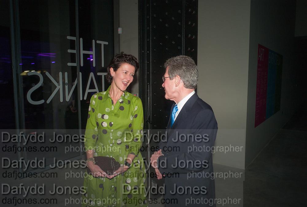 MELANIE CLORE; LORD BROWNE, The Tanks at Tate Modern, opening. Tate Modern, Bankside, London, 16 July 2012