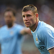 James Milner, Manchester City, in action during the Manchester City V Chelsea friendly exhibition match at Yankee Stadium, The Bronx, New York. Manchester City won the match 5-3. New York. USA. 25th May 2012. Photo Tim Clayton