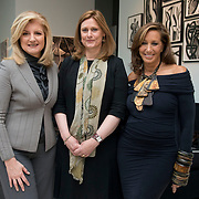 White Ribbon Alliance Global Patron Sarah Brown, center, with Arianna Huffington, left, and Donna Karan, right, attend the White Ribbon Alliance for Safe Motherhood Wake up Call Women's Breakfast for Maternal Health at the Stephan Weiss Studio in New York City on September 21, 2012. ..Immediately preceding an important week of global conversations including the UN General Assembly and Clinton Global Initiative, the White Ribbon Alliance for Safe Motherhood will bring together Sarah Brown, Arianna Huffington and Donna Karan to host a breakfast in New York City highlighting the urgent need to unlock the $70 billion pledged to save the lives of pregnant women, mothers and their newborns around the world. The breakfast conversation will unite existing high-level champions and WRA grassroots leaders with an important group of women in business and philanthropy to highlight the White Ribbon Alliance's critical role in ensuring maternal health remains at the top of the policy agenda...www.whiteribbonalliance.org..Photo by Angela Jimenez for the White Ribbon Alliance.www.angelajimenezphotography.com