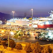 Sea port in Heraklion with speedy ferries to the islands. Crete, Greece