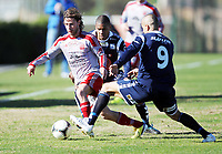 Fotball ,12. mars 2013 privatkamp ,La Manga <br /> Kristiansund - Strømmen 1-2<br />  Stian Rach , Strømmen<br /> Christophe Psyche , Kr.sund<br /> Mahmoud El Haj , Kr.sund (9)