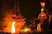Shrines during Fire Festival in Nozawaonsen, Japan