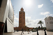 Marrakesh, Morocco. October 9th 2008..The Koutoubia minaret....