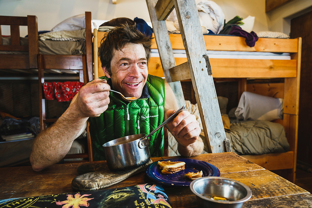 Lunch time with Eric Johnson, Mount Hayden Backcountry Lodge, San Juan's, Colorado.