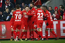 February 11, 2018 - France - Sebastien Pocognoli defender of Standard Liege celebrates (Credit Image: © Panoramic via ZUMA Press)