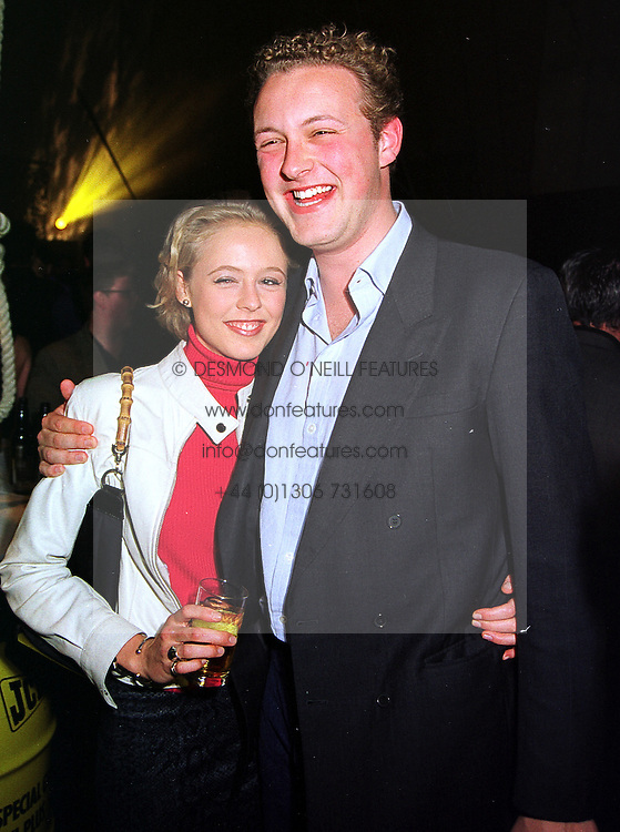 LADY ALEXANDRA SPENCER-CHURCHILL and her brother LORD EDWARD SPENCER-CHURCHILL, children of the Duke of Marlborough, at a party in London on 21st October 1999.MYB 47
