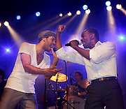 Dutch singer Alain Clark performing together with his father Dane Clark during a show in De Oosterpoort, Groningen // Alain Clark samen met zijn vader Dane Clark tiijdens een optreden in De Oosterpoort, Groningen.