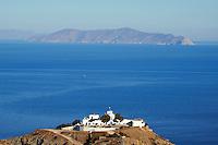 Grece, Cyclades, ile de Kea, monastere Agios Sostis // Greece, Cyclades island, Kea island, Agios Sostis monastery