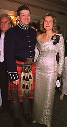 DR the HON.HUMPHREY & the HON.MRS DRUMMOND, at a ball in London on 30th April 1998.MHI 20