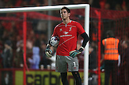 Liverpool goalkeeper Brad Jones during the Capital One Cup match between Bournemouth and Liverpool at the Goldsands Stadium, Bournemouth, England on 17 December 2014.