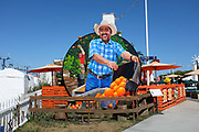 Mural of Martin Almanza of Neff Ranch, at the Orange Grove Exhibit at the Orange County Fair