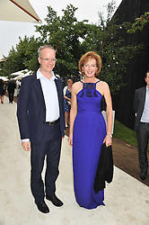HANS ULRICH OBRIST and JULIA PEYTON-JONES at the annual Serpentine Gallery Summer Party sponsored by Burberry held at the Serpentine Gallery, Kensington Gardens, London on 28th June 2011.