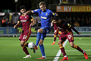 AFC Wimbledon striker Joe Pigott (39) controlling the ball in the box during the EFL Sky Bet League 1 match between AFC Wimbledon and Bradford City at the Cherry Red Records Stadium, Kingston, England on 2 October 2018.