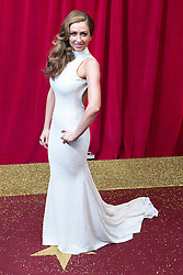 © Licensed to London News Pictures . 16/05/2015 .  The Palace Hotel , Manchester , UK . GEMMA MERNA . The red carpet at the 2015 British Soap Awards , The Palace Hotel , Oxford Road , Manchester . Photo credit : Joel Goodman/LNP