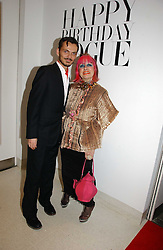 MATTHEW WILLIAMSON and ZANDRA RHODES at a party to celebrate the 90th birthday of Vogue magazine held at The Serpentine Gallery, Kensington Gardens, London on 8th November 2006.<br /><br />NON EXCLUSIVE - WORLD RIGHTS