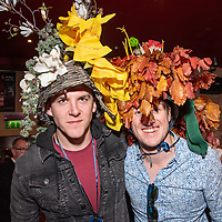 REPRO FREE<br /> Eoghan Lynch, Clare and Brian McCarthy, Cork were winners of the Best Hat award at the 43nd Kinsale Gourmet Festival Mad Hatters Taste of Kinsale.<br /> Picture. John Allen