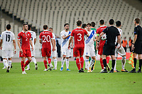 ATHENS, GREECE - OCTOBER 11: Players of both teams after the UEFA Nations League group stage match between Greece and Moldova at OACA Spyros Louis on October 11, 2020 in Athens, Greece. (Photo by MB Media)